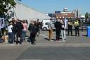 De vredelievende demonstratie bij Vitelco in Den Bosch van Save Movement.