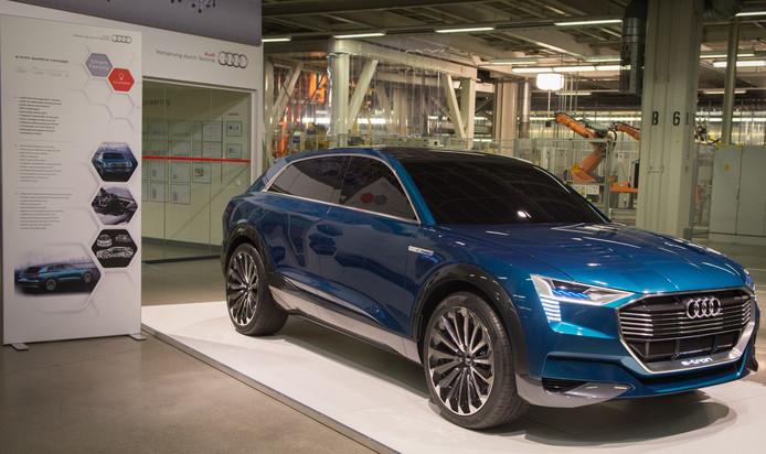 L'Audi Q6 E Tron assemblée à l'usine forestoise du constructeur allemand.