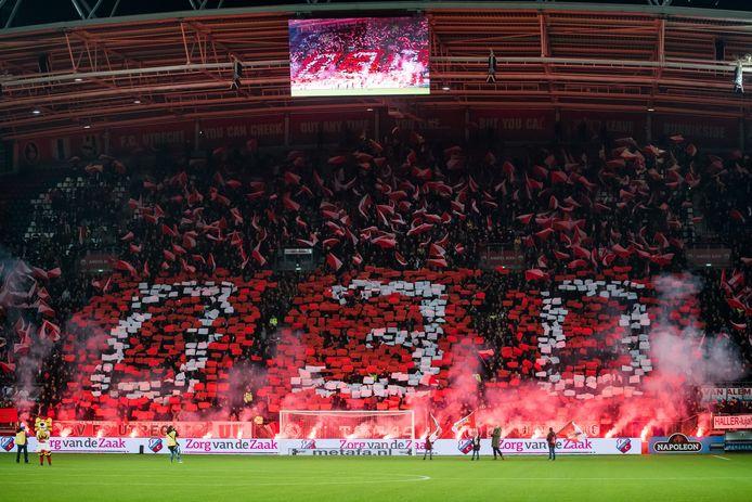 FC Utrecht-fans in Galgenwaard.