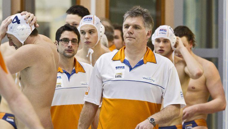 Johan Aantjes, bondscoach van de waterpolomannen. © ANP Beeld null