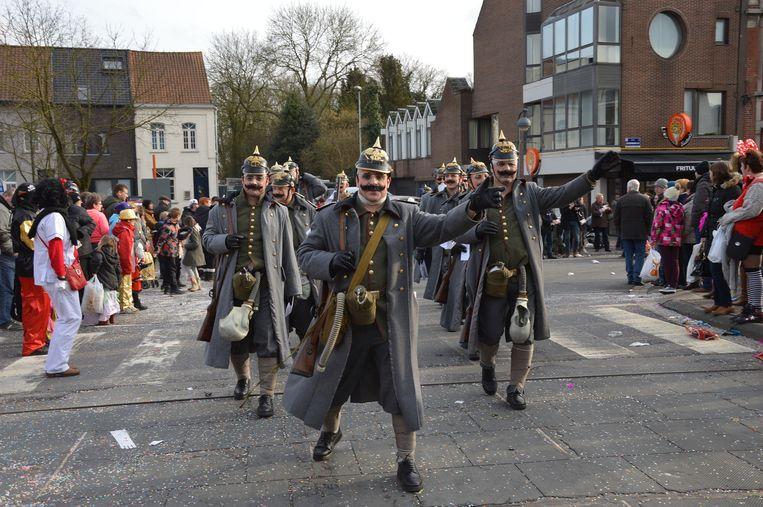 Pips en co als Duitsers tijdens de Groote Oorlog.