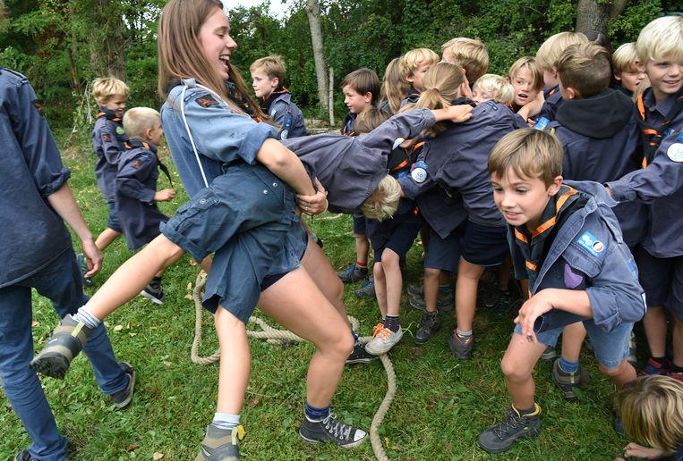 Scouting in Vlaanderen in ongekend populair. Beeld Marcel van den Bergh