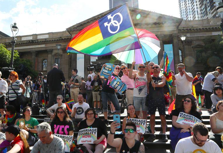 Voorstanders wachten in Melbourne de uitslag af.
