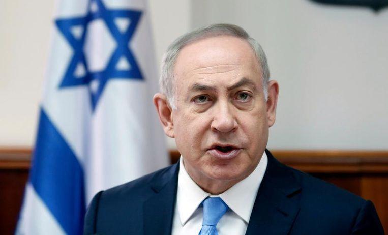 De premier van Israël,Benjamin Netanyahu. Beeld null