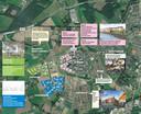 Dit overzicht heeft het ED samengesteld op basis van gegevens van de gemeente Helmond en Cedrus. De blokken met omcirkelde nummers zijn projecten die Ontwikkelingscombinatie Cedrus-Adriaans Brandevoort VOF ontwikkelt.