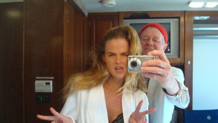 Christiaan nu, met model Shannan Click. Beeld