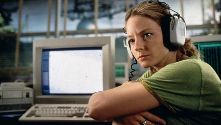 Jodie Foster in Contact. Beeld null