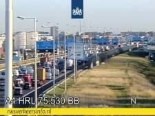Drukte op de snelwegen rondom Rotterdam door ongevallen