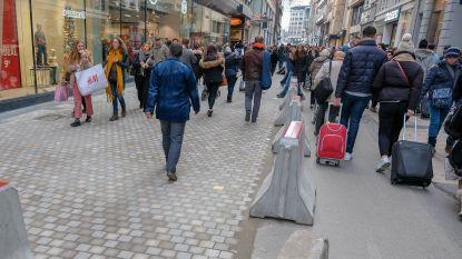 Werken in de Nieuwstraat op pauze voor eindejaarsshoppers