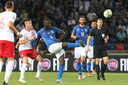 Mario Balotelli tijdens het duel met Polen.