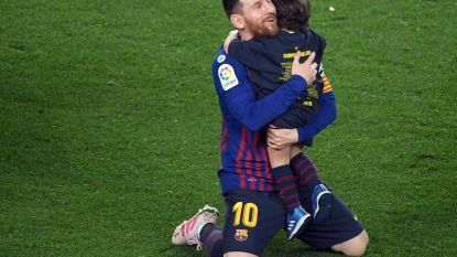 Lionel Messi - wie anders? - helpt Barcelona met winning goal tegen Levante aan 26ste titel in de clubgeschiedenis