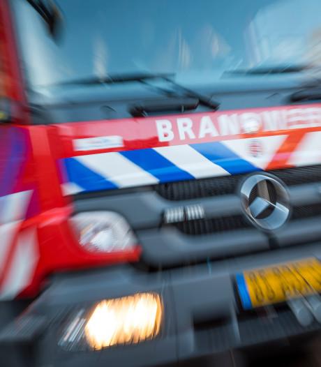 Berm in brand langs A1 bij Rijssen