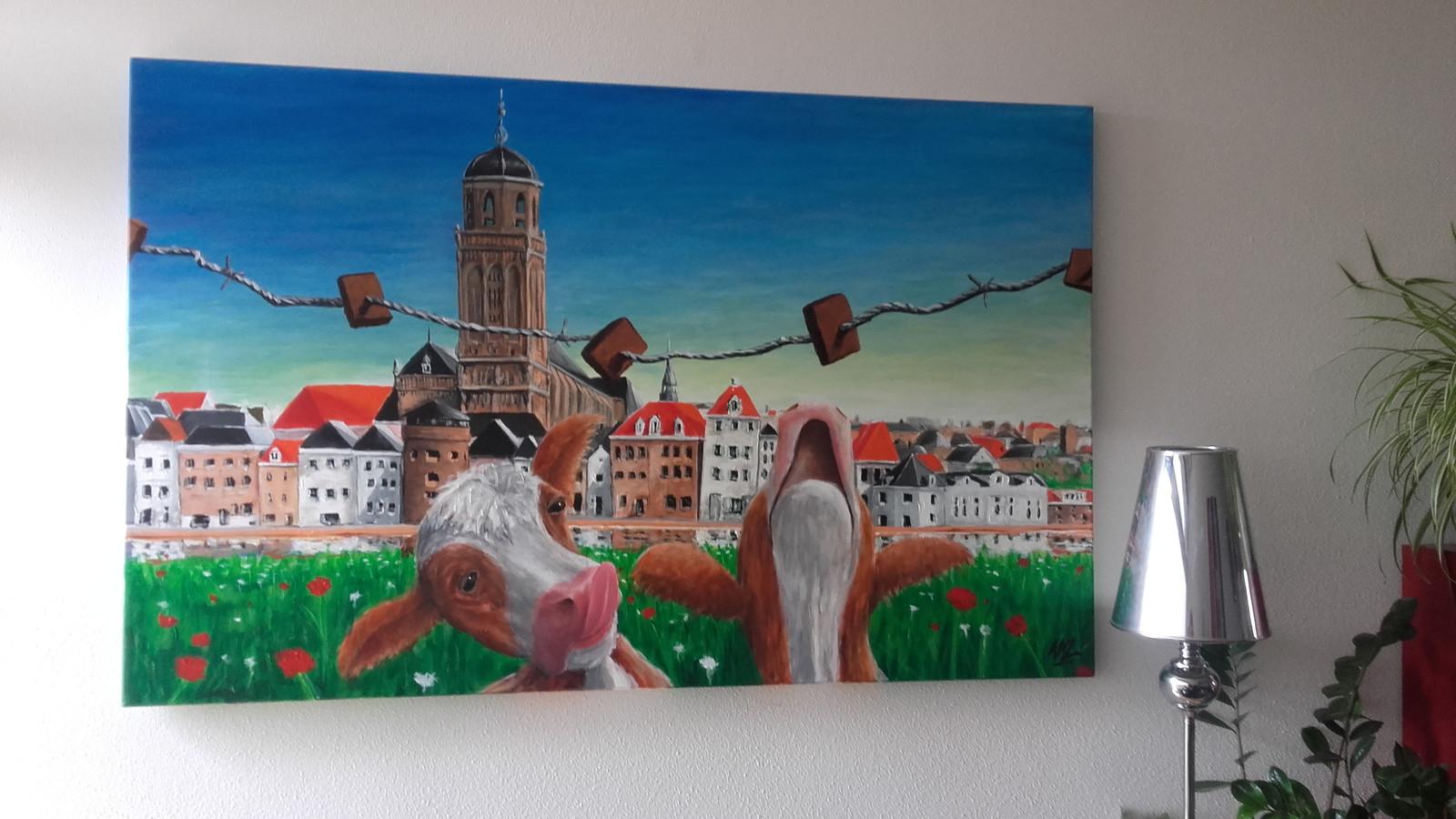 De skyline van Deventer is er in allerlei soorten en maten, dat bewijst de foto van Katja Bruijnes.