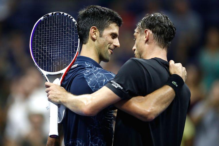 Djokovic wel voorbij Millman, die de scalp van Federer pakte.