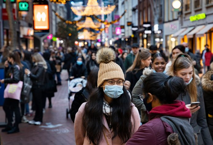 Drukte tijdens black friday in Eindhoven