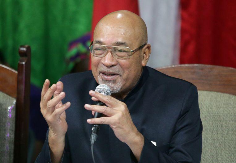 Desi Bouterse, president van Suriname. Beeld REUTERS