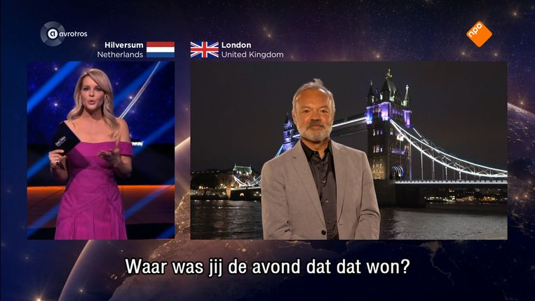 Chantal Janzen en Graham Norton in gesprek.
