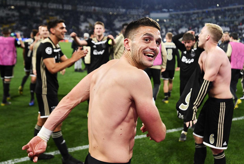 Dusan Tadic in betere tijden, vlak na de gewonnen Champions League-wedstrijd tegen Juventus.
