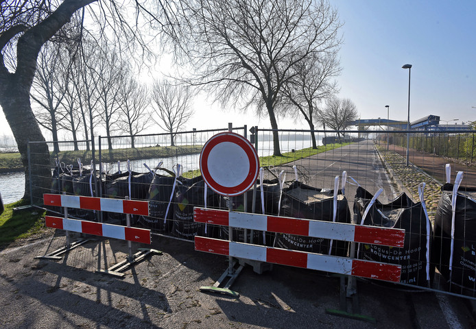 De afsluiting van de Westkade.