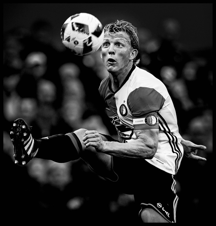 Dirk Kuyt in opperste concentratie.