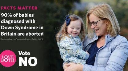 """Ierse voorstanders abortus klagen """"propaganda met kinderen met Down"""" aan"""