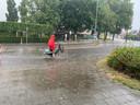 Flinke neerslag in Veghel.