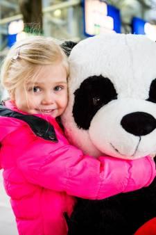 Wie gaf Esmee (3) zomaar een mega-panda cadeau op het station?