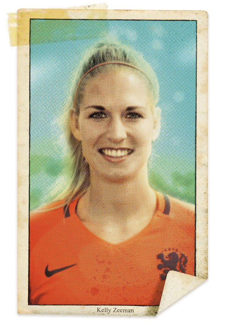 Voetbalster Kelly Zeeman. Beeld studio vonq