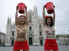 Les Femen manifestent à Milan contre Vladimir Poutine