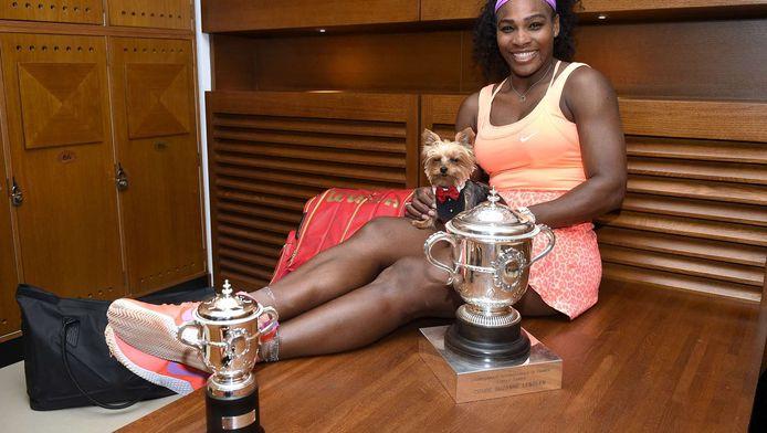 Archieffoto: Serena Williams met haar hondje Chip.