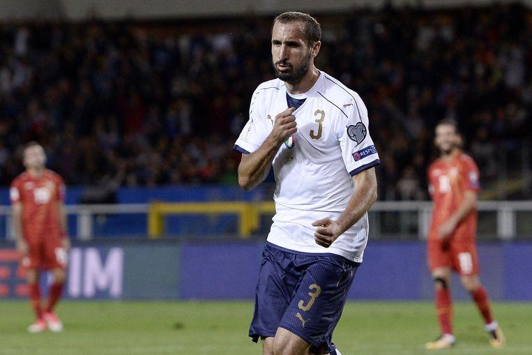 Chiellini scoorde gisteravond nog tegen Macedonië, maar Italië zou op 1-1 stranden.