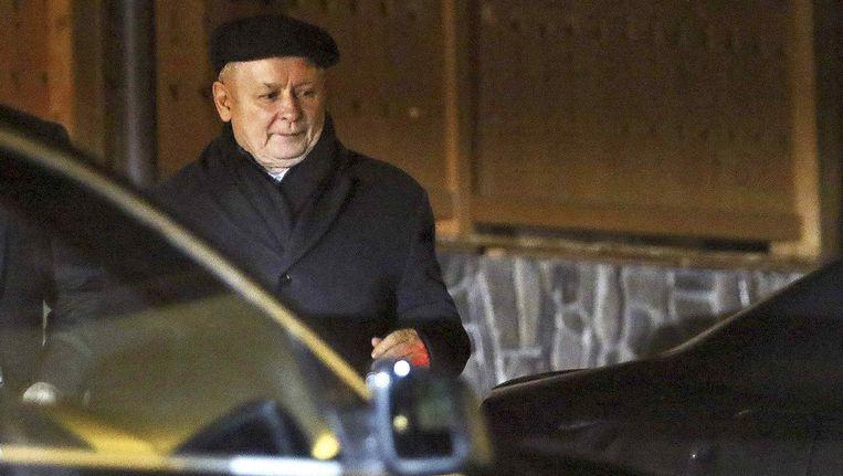 Jaroslaw Kaczynski, oprichter van de rechtse politieke partij Recht en Rechtvaardigheid (Prawo i Sprawiedliwo, PiS). Beeld reuters