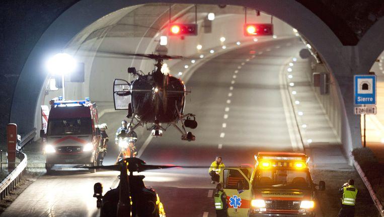 De tunnel waar het ongeluk plaats vond. Beeld EPA