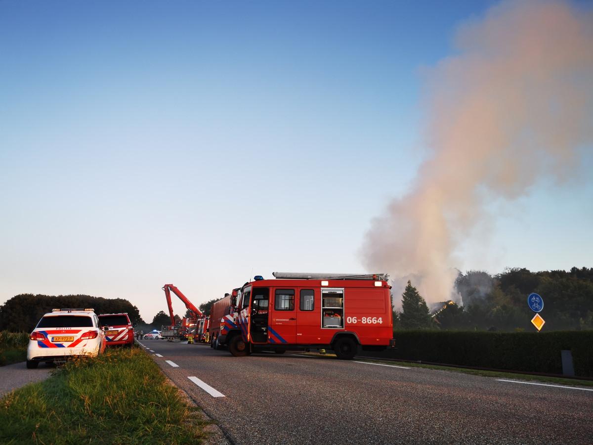 Veel rookontwikkeling bij de brand in Kilder.