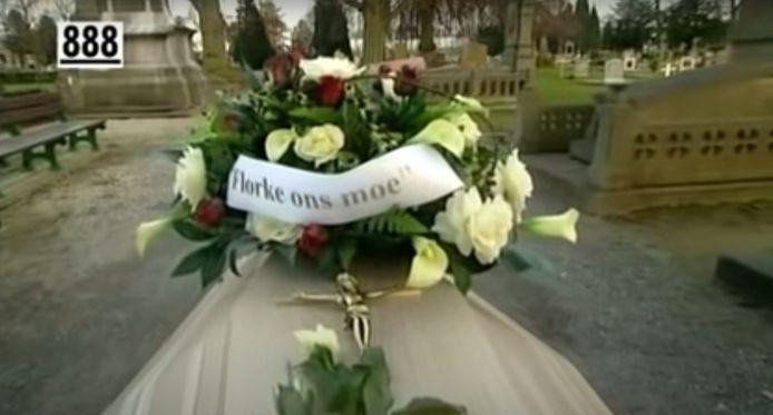 Beeld van de begrafenis van Florke.