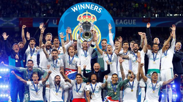 Real Madrid won de Champions League voor de derde keer op een rij.