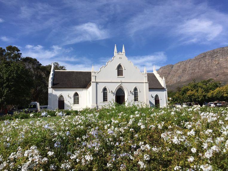 De gereformeerde kerk In Franschhoek. Beeld Getty Images