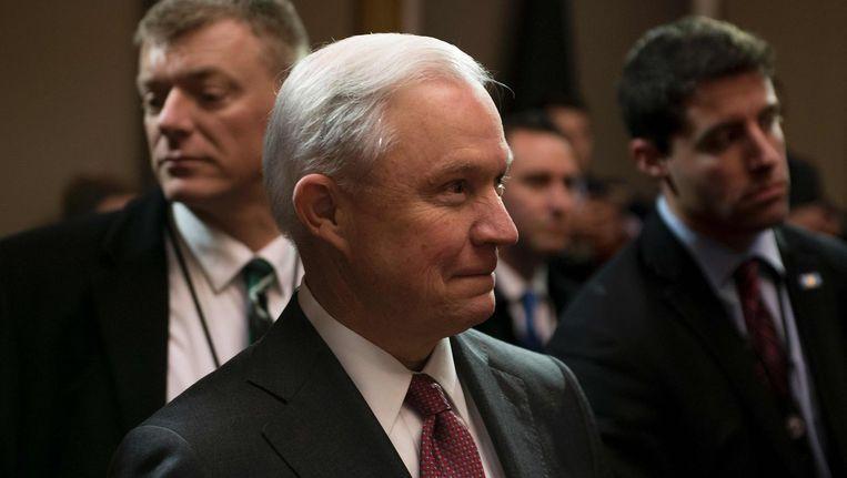 De Amerikaanse minister van Justitie Jeff Sessions blijkt vorig jaar twee keer gesproken te hebben met de Russische ambassadeur in Washington. Beeld afp