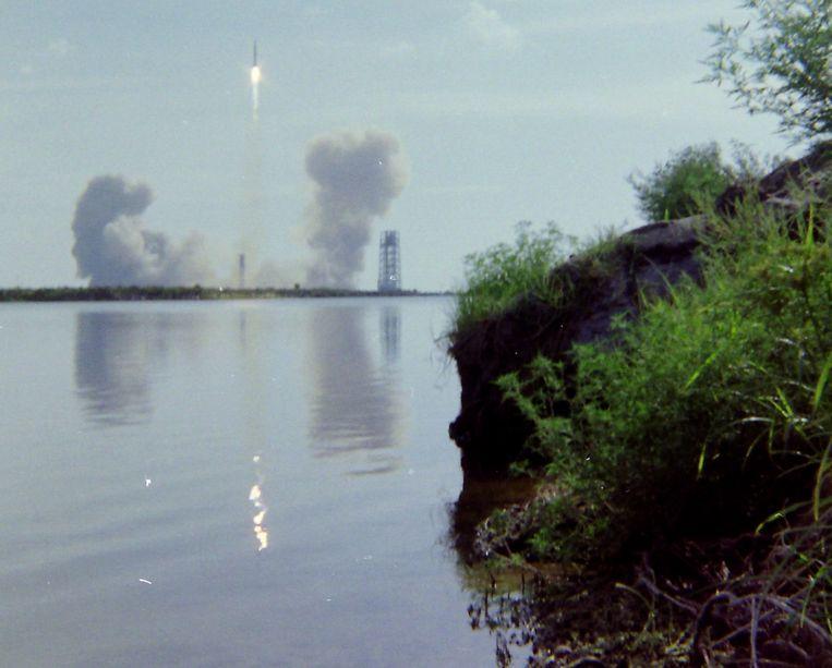 De lancering door de lens van Vinkenoog (3). Beeld Simon Vinkenoog