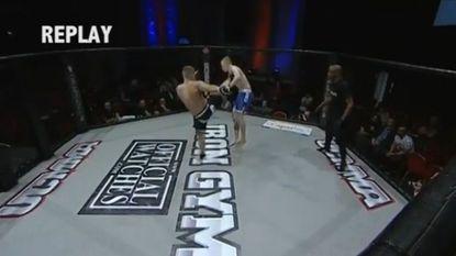 Ziehier: de snelste knock-out ooit in het MMA