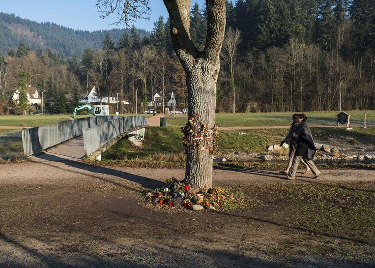 De plaats waar het lichaam van de jonge vrouw werd gevonden.