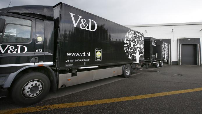 Vrachtwagens met het V&D logo nog te zien op de snelwegen.