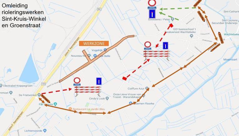Aclagro legt een gescheiden rioleringsstelsel aan op de grens tussen Wachtebeke en Sint-Kruis-Winkel.