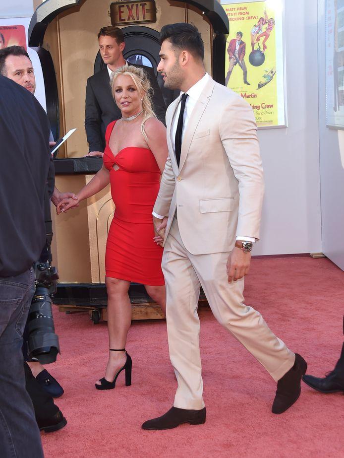 Britney Spears en Sam Asghari verschenen samen op de rode loper.