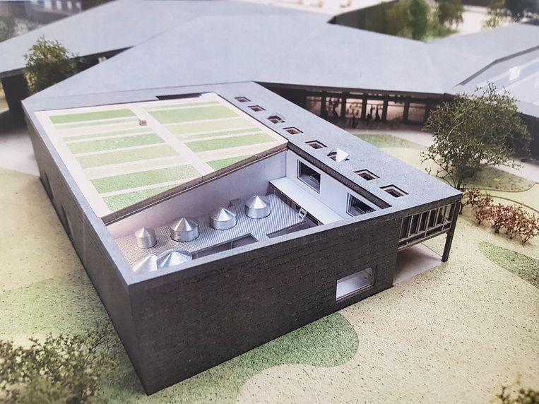 Beelden van de maquette van het nieuwe complex van 3 Fonteinen dat gebouwd zal worden langs de Molenstraat.