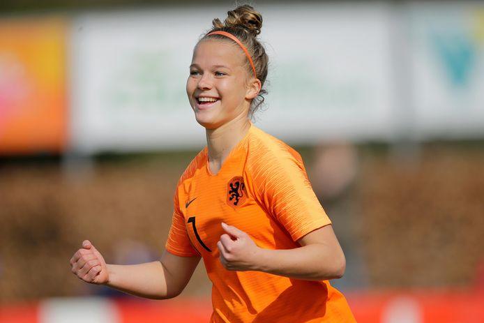 Kirsten van de Westeringh, Oranje O19, Ajax, Zeewolde, 2019