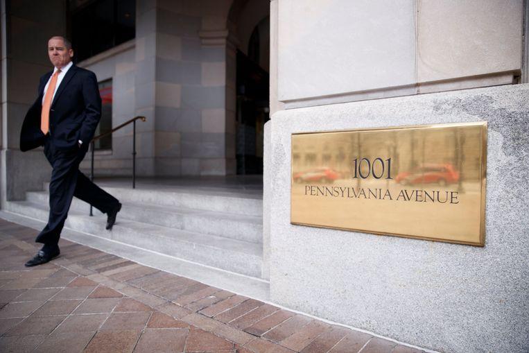Het hoofdkantoor van The Carlyle Group in Washington. Beeld EPA