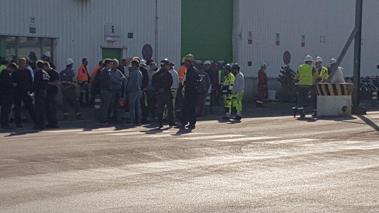 Het personeel werd geëvacueerd.