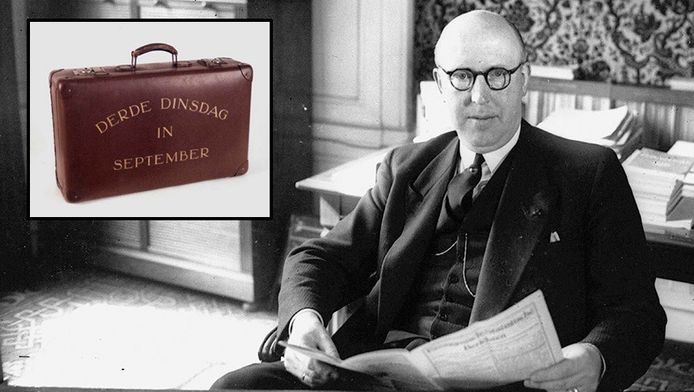 Pieter Lieftinck en zijn koffertje