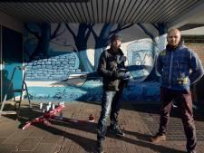 Eigentijdse herinnering aan de turfvaart in Roosendaal